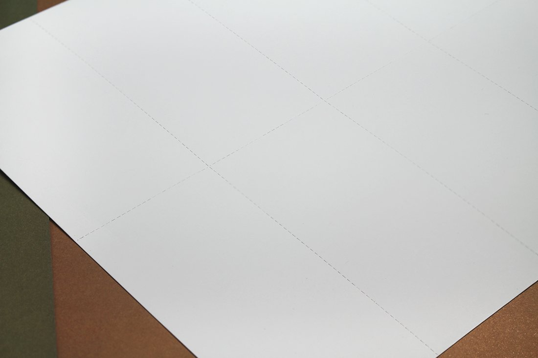100 Sheets Blank Perforated Paper White Card Stock for Laser Printers 1000-4.25 x 2.2 Inch Pieces Printable Perforated Paper in Total