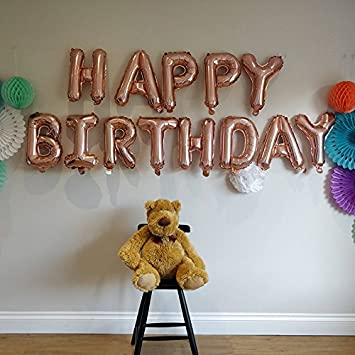 GrandShop 50469 Happy Birthday Letters Balloons