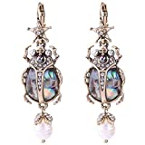 New Retro Alloy Star Insect Skull Pearl Earrings Rare Jewelry