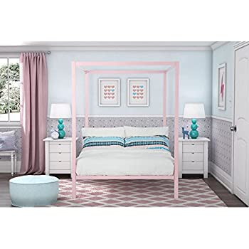 DHP Modern Metal Canopy Bed  Full  Pink. Amazon com  DHP Soho Canopy Bed   Queen  Kitchen   Dining
