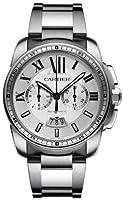 Cartier Calibre de Cartier Silver Dial Chronograph Automatic Mens Watch W7100045 from Cartier