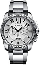 Cartier Calibre Men's Automatic Chronograph Watch with Stainless Steel Bracelet - W7100045