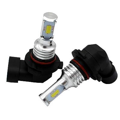 9005 LED Fog Light Bulb Newest Version 3570 Chips LED Fog Blubs - Extremely Bright 6000K Xenon White LED Fog Lamp (9005): Automotive