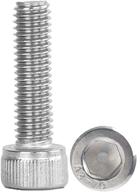 M8 X 1.25 X 55mm Stainless steel socket allen head metric bolts 10pcs