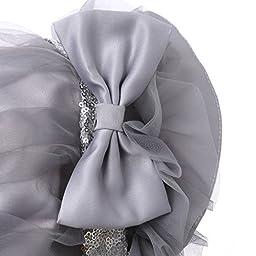 Hanakimi Lace Royal Sun Hat Handmade Grey KM061 (M/12M)