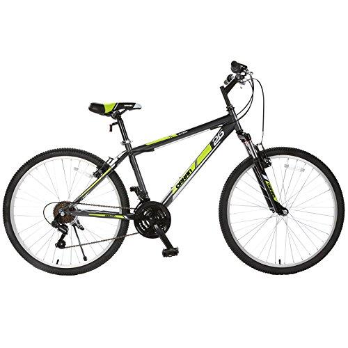 "ORKAN Reinforced Mountain Bike 26"" Men+Women Hybrid Bike Bicycle Commuter 18 Speed Front/Full Suspension Shimano Derailleur"