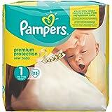 Pañales Pampers Recién Nacido Gr.1 recién nacido 2-5 kg que paquete, paquete de 4 (4 x 23 piezas)