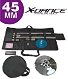 X-Dance 45mm Portable Removable Dance Pole Sport Fitness Exercise with Carry Case
