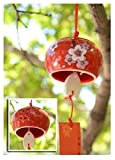 Ceramic fengling Japanese fengling Japan Wind chimes Style Red Cherry Blossom huis keuken