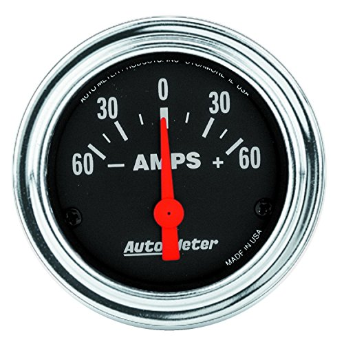 Auto Meter 2586 Traditional Chrome Electric Ampmeter Gauge by Auto Meter