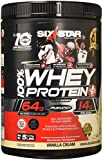 Six Star Pro Nutrition 100% Whey Protein Plus, 32g Ultra-Pure Whey Protein Powder, Vanilla, 5 Pound