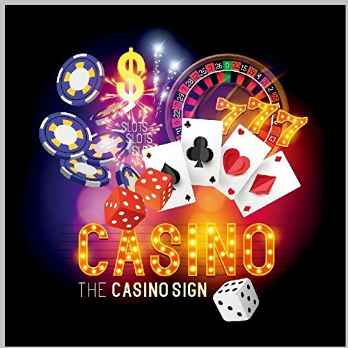 Club Roulette (Las Vegas Theme Casino Poker Cards Roulette Dice Club Vinyl cloth Computer print party backdrop)