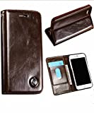 iPhone 7 & 8 Plus Case, Ranbio PU Leather Wallet Phone Case with Flip Cover and Stand [Credit Card Slot] [Magnetic Closure] [Book Design] Folio Stand Case for Apple iPhone 7 / 8 Plus (Brown)