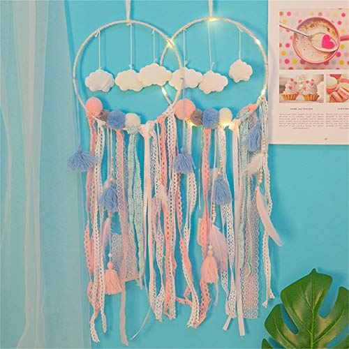 Clacce Traumfänger Handgefertigt, Feder Dream Catcher Dreamcatchers Auto Home Wandbehang Dekoration für Baby Shower Car Hochzeit Decor Geschenk