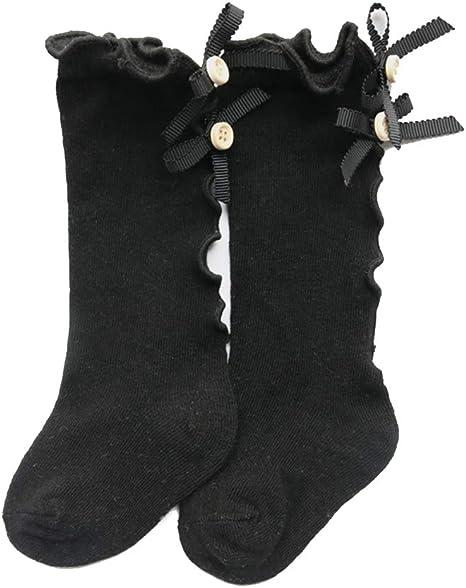 BEAUTPINE Calcetines altos Arco Algodón Rodilla Niño Princesa Niñas Calcetines Orejas de madera Niños Belleza Calentadores de piernas Bebé Recién nacido Niña Calcetín size XL (#5): Amazon.es: Bebé