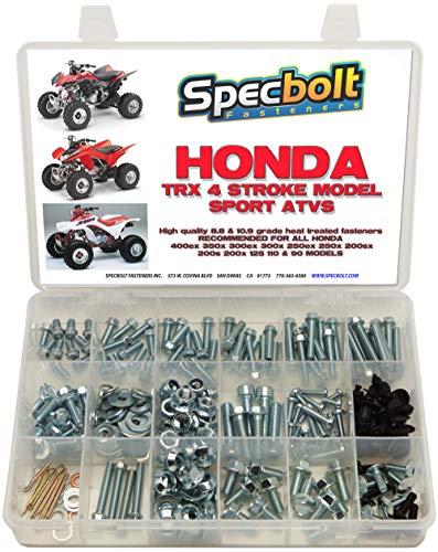 250pc Specbolt Fasteners Brand Bolt Kit: fits Honda TRX400EX TRX250X aslo Great for ATC & TRX 350x 300ex 300x 250ex 250x 200sx 200s 200x 125cc 110cc & TRX90 Models
