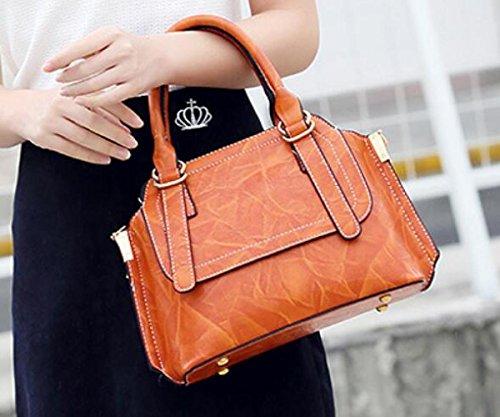 Borsa Cuscino Una A Primavera Brown Spalla Donna Borsetta Moda Versione Borsa Coreana Messenger tww0vAq