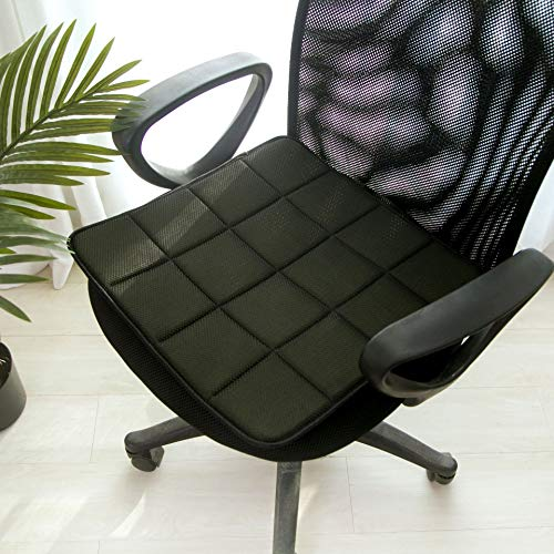 DPS&RXX Premium Bamboo Charcoal Seat Pads,Chair Seat Pads Cushion, with Ties,3D mesh Breathable Cover,Indoor Outdoor for Living Room Patio Garden Office ()
