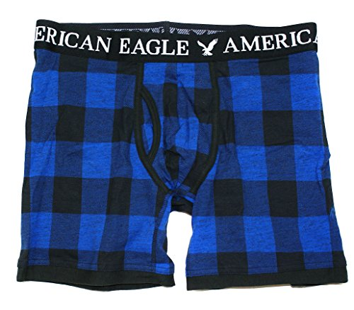 American Eagle Men's Trunk (Small, Plaid 3534 Blue)