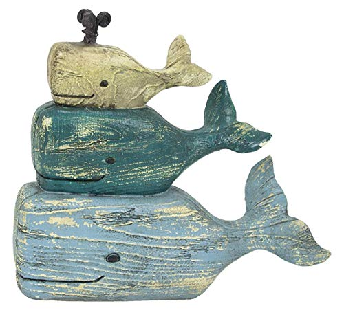 GSM Whale Nautical Tabletop Decor Paperweight