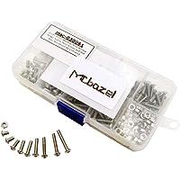 Mcbazel Stainless Steel M3 5mm 6mm 8mm 10mm 12mm 14mm 16mm 18mm 20mm Hex Button Head Screws Nuts Set 340 pcs