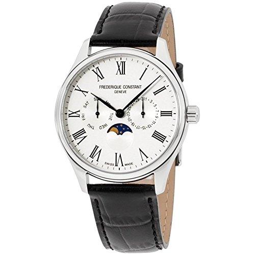 Frederique Constant Classics White Dial Leather Strap Men's Watch FC260WR5B6