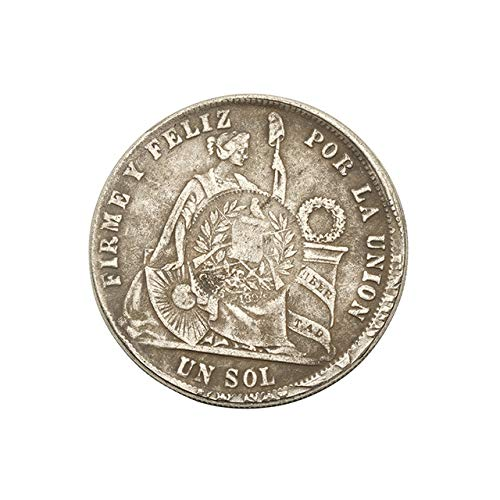 (Xinmeitezhubao Vintage Coin Collection 1871 Peru Valley Silver Dollar Collection Silver Round Dragon Ocean Commemorative Coin Gift)