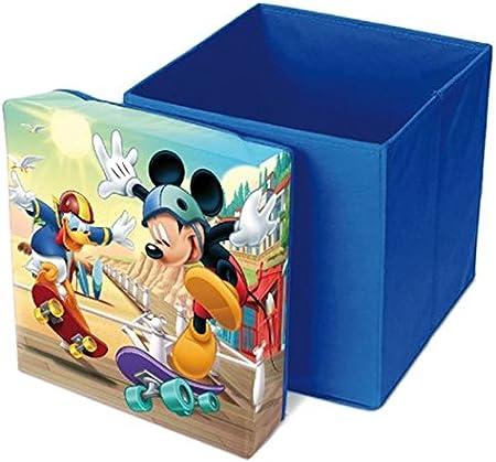 Mickey Mouse Heavy Duty Cuadrado Sorage Caja Asiento por BestTrend: Amazon.es: Hogar