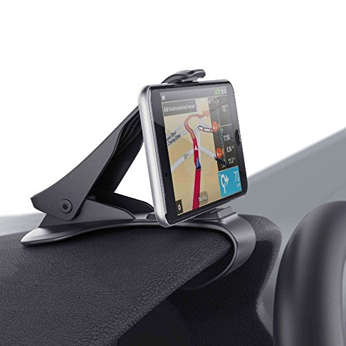 Smartphone Car Mount, HUD Simulating Atex Design Phone Crocs Jaw Dashboard Clip Holder Cradle Phone Safe Driving for i Phone X, 8, 7 Plus Samsung S10,9,8 Other Devices < 6.5 Screen