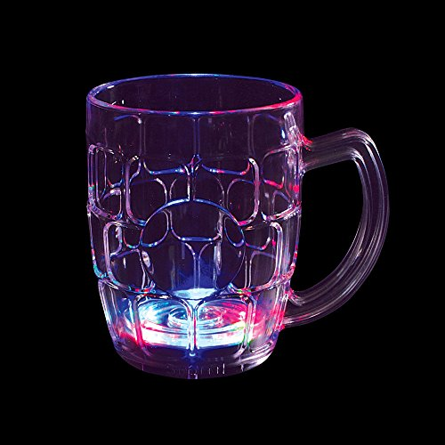 Flashing Panda 16 oz LED Light-Up Multi-Color Flashing Beer Mug, Lot of 4 (Flashing Beer Mug)