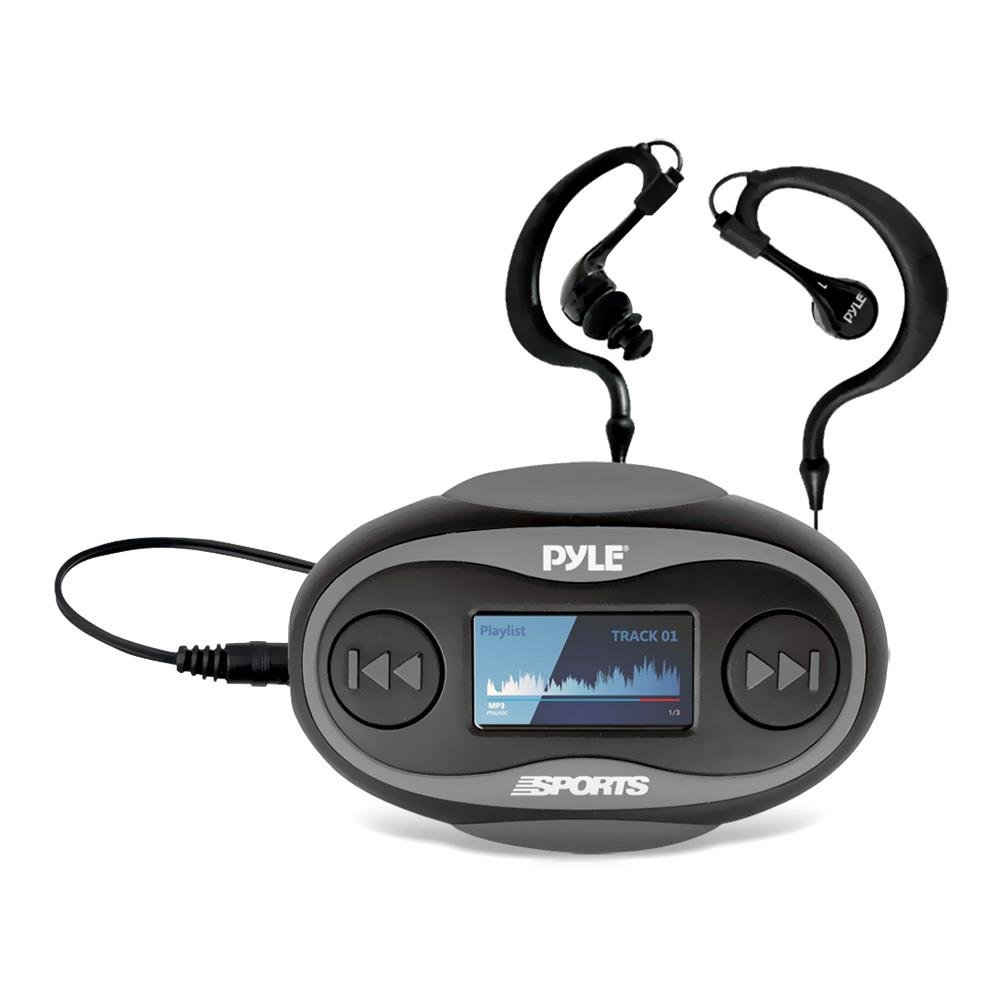 PSWP26BK Waterproof Sport Headphones MP3 Player 8GB Black Color