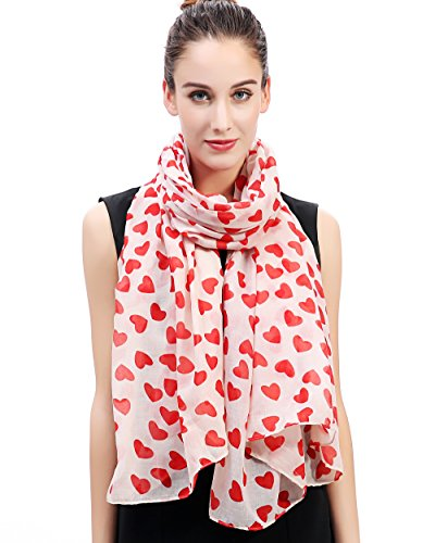 Lina & Lily Loving Hearts Print Large Scarf Mother