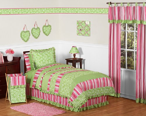 Sweet Jojo Designs Queen Kids Childrens Bed Skirt for Olivia Bedding Sets B0044EN3BG
