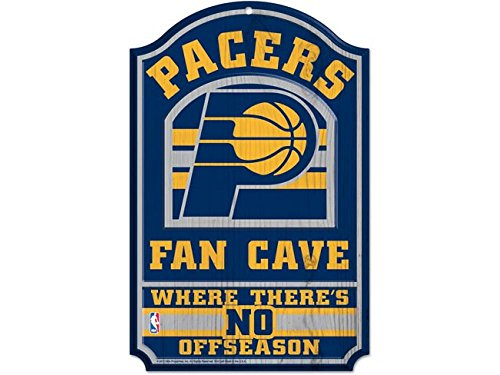 NBA Indiana Pacers 38390012 Wood Sign, 11'' x 17'', Black by WinCraft