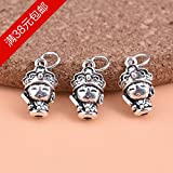 usongs S925 sterling silver hand-made accessories DIY Thai monk silver necklace pendant accessories DIY beaded bracelet material