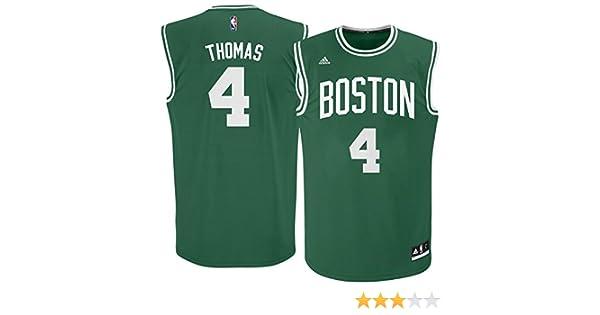 Amazon.com  adidas Isaiah Thomas Boston Celtics Green NBA Youth Revolution  30 Replica Jersey (Medium 10 12)  Clothing 91947f29f