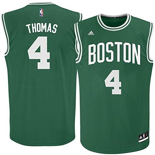 adidas Isaiah Thomas Boston Celtics Green NBA Youth Revolution 30 Replica Jersey (Medium 10/12) (Nba Replica Adidas Youth Jersey)
