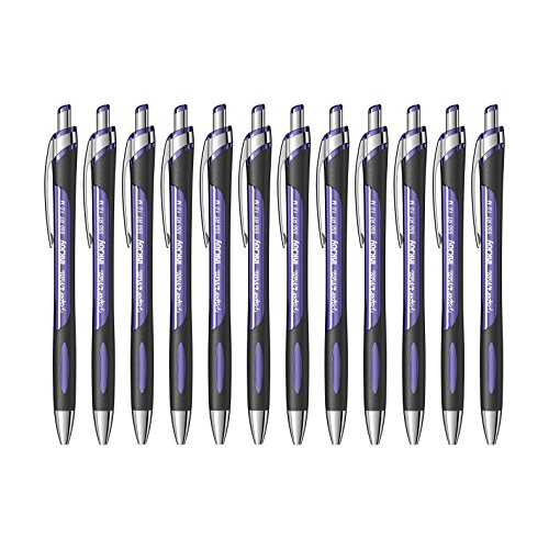 Paper Mate InkJoy 550RT Retractable Ballpoint Pens, Medium Point, Purple Ink, 12 Pack