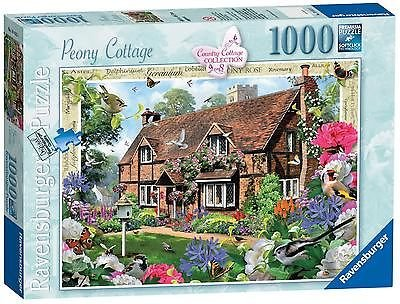 Ravensburger Country Cottage Collection No.8 - Peony Cottage, 1000pc Jigaw Puzzle