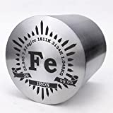1Kg Fine Turning Iron Metal Cylinder dia.56×56mm 99.95% Engraved Periodic Table
