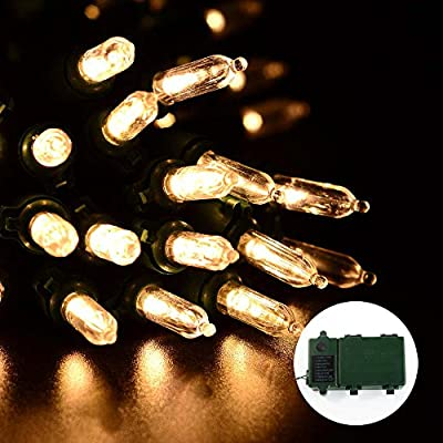 Qedertek Christmas Battery String Lights 50 LED 13.1ft with 8 Modes Lighting for Indoor, Outdoor, Home, House, Path, Patio, Xmas Tree, Party, Fairy Garden, Holiday, Waterproof
