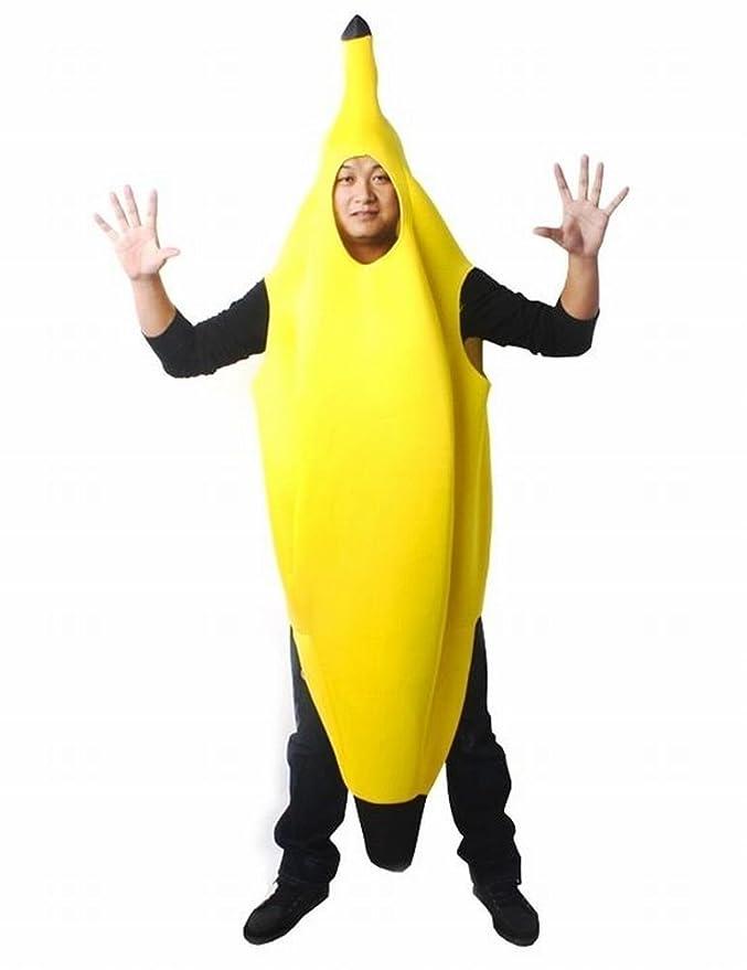 Traje de Halloween cosplay Bananaman interesante para los adultos ...