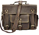 Jaxu Men's Real Leather Shoulder Bag Coffee