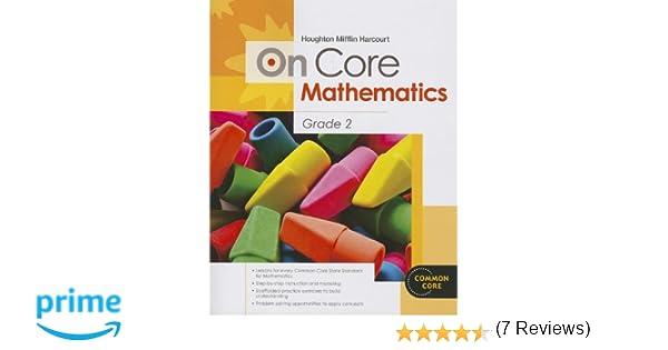 Houghton Mifflin Harcourt On Core Mathematics: Student Workbook ...