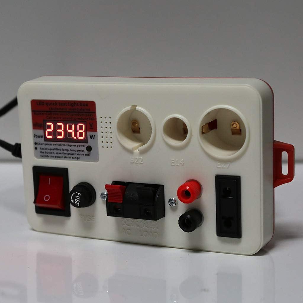 Ycncixwd LED Quick Test Box Testeur de tension pour ampoule E27 B22 E14 avec /ét/é
