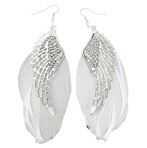 Clearance ! Yang-Yi 2018 Fashion Jewelry Gift Women Angel Metal Wing Bohemian Handmade Vintage Feather Long Drop Earrings (11cm, - Designer Clearance Online