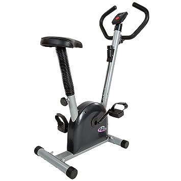 TecTake – Bicicleta estática/elíptica, fitness y cardio, con pantalla LCD
