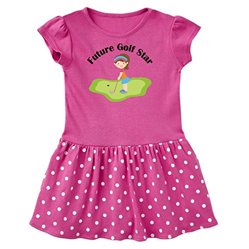 inktastic - Future Golf Star Toddler Dress 2T Raspberry with Polka Dots 10c24 ()