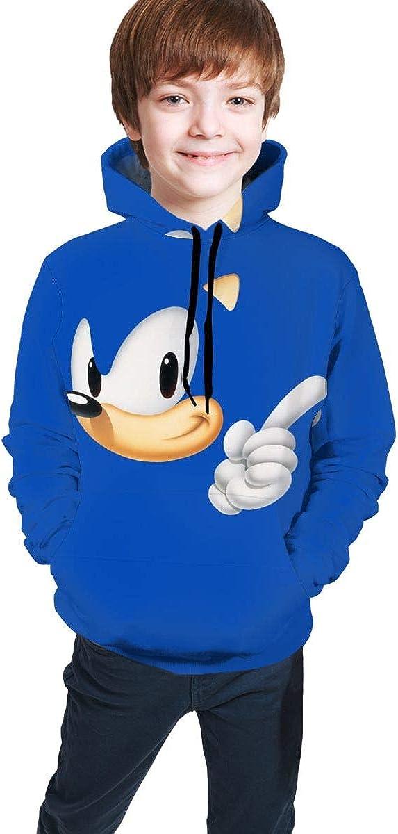 Muindancer Hedgehogs Sonic Kids Soft Hooded Sweatshirt Hoodie for Boys Or Girls
