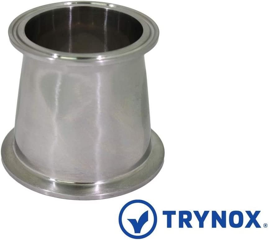 "3-1//2/"" x 2/"" Stainless Steel 304 Tri Clamp Sanitary Concentric Reducer"